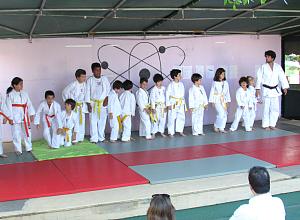 Aula aberta de judo